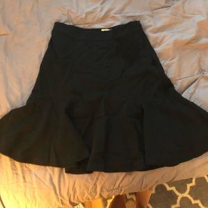DVF fit and flare black skirt